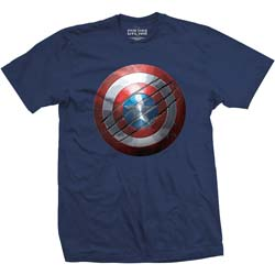 Marvel Comics Men's Tee: Captain America Civil War Clawed Shield