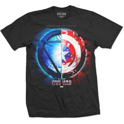 Marvel Comics Men's Tee: Captain America Civil War Whose Side