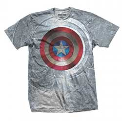 Marvel Comics Men's Tee: Captain America Civil War Shield with Sublimation Printing