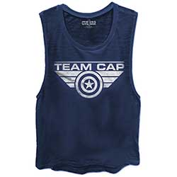 Marvel Comics Ladies Vest Tee: Captain America Civil War Team Cap