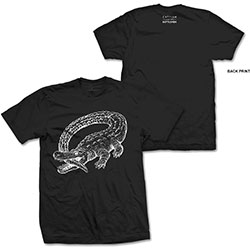 Catfish And The Bottlemen Men's Tee: Alligator (Back Print)