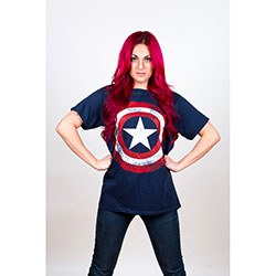 Marvel Comics Men's Tee: Captain America Distressed