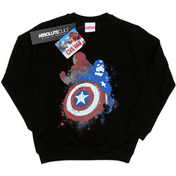 Marvel Comics Kids Boy's Fit Sweatshirt: Captain America Civil War Painted vs Iron Man