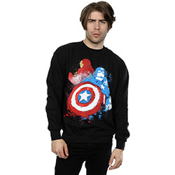 Marvel Comics Men's Sweatshirt: Captain America Civil War Painted vs Iron Man