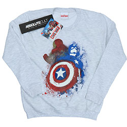 Marvel Comics Ladies Sweatshirt: Captain America Civil War Painted vs Iron Man