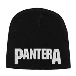 Pantera Men's Beanie Hat: Logo with Discharge Printing