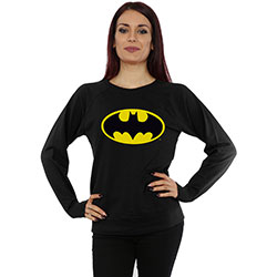 DC Comics Ladies Sweatshirt: Batman Logo