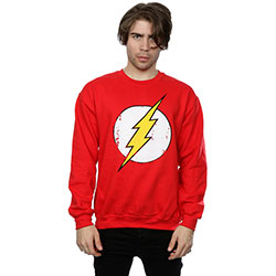 DC Comics Men's Sweatshirt: The Flash Distressed Logo