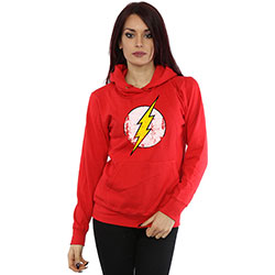 DC Comics Ladies Pullover Hoodie: The Flash Distressed Logo