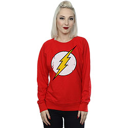 DC Comics Ladies Sweatshirt: The Flash Distressed Logo
