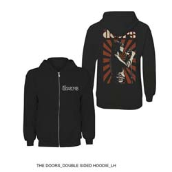 The Doors Men's Zipped Hoodie: Lizard King with Back Printing