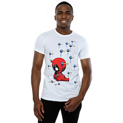Marvel Comics Men's Tee: Deapool Cartoon Knock-out (Small)