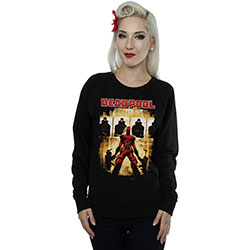 Marvel Comics Ladies Sweatshirt: Deadpool Target Practice (Large)