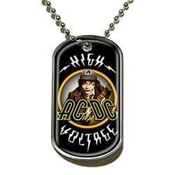 AC/DC Dog Tag Pendant: High Voltage