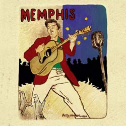 Elvis Presley Greetings Card: Memphis