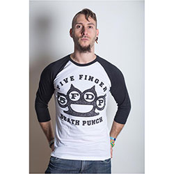 Five Finger Death Punch Men's Raglan Tee: Knuckles