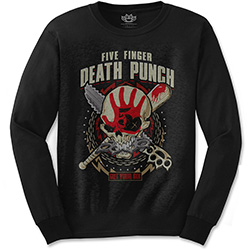 Five Finger Death Punch Men's Long Sleeved Tee: Zombie Kill
