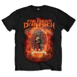 Five Finger Death Punch Men's Tee: Burn in Sin