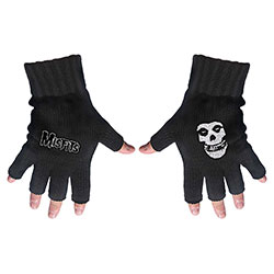 Misfits Fingerless Gloves: Logo & Fiend
