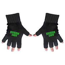Green Day Men's Fingerless Gloves: Logo