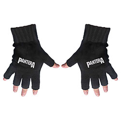 Pantera Men's Fingerless Gloves: Logo