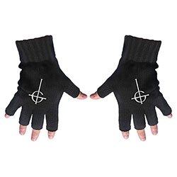 Ghost Fingerless Gloves: Ghost Cross