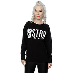 DC Comics Ladies Sweatshirt: The Flash Star Labs (XX-Large)