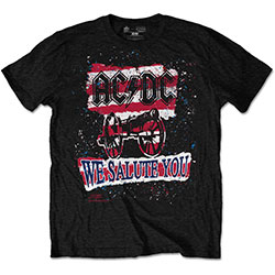 AC/DC Men's Tee: We Salute You Stripe