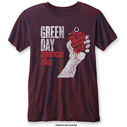 Green Day Men's Fashion Tee: American Idiot Vintage (Burn Out)