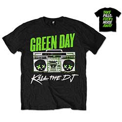 Green Day Men's Tee: Kill the DJ with Back Printing