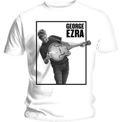 George Ezra Ladies Tee: Guitar with Skinny Fitting