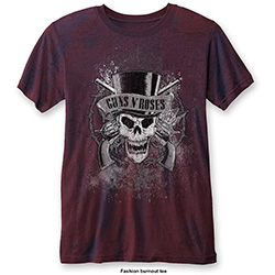 Guns N' Roses Men's Fashion Tee: Faded Skull (Burn Out)