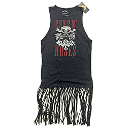 Guns N' Roses Ladies Tee Dress: Appetite for Destruction with Tassels