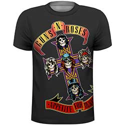 Guns N' Roses Men's Tee: Appetite with Sublimation Printing