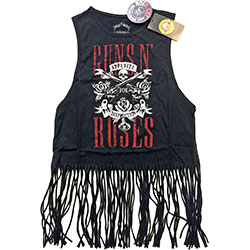 Guns N' Roses Ladies Tee Vest: Appetite for Destruction with Tassels