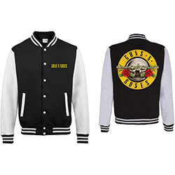 Guns N' Roses Men's Varsity Jacket: Circle Logo with Back Printing