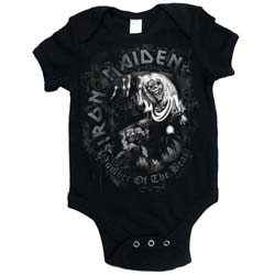 Iron Maiden Kids Baby Grow: Number of the Beast