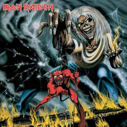 Iron Maiden Greetings Card: Number of the Beast