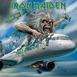 Iron Maiden Greetings Card: Flight 666