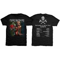 Iron Maiden Men's Premium Tee: The Book of Souls European Tour (Version 1)