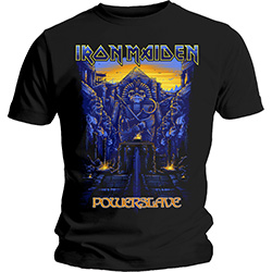 Iron Maiden Men's Tee: Dark Ink Powerslaves