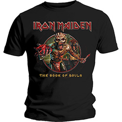Iron Maiden Men's Tee: Book of Souls Eddie Circle