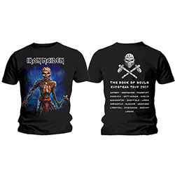 Iron Maiden Mens Tee: Axe Eddie Book of Souls European Tour (Version 2)