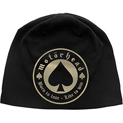 Motorhead Beanie Hat: Born to Lose (Discharge Print)