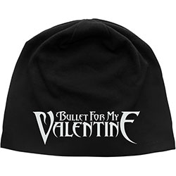 Bullet For My Valentine Beanie Hat: Logo (Discharge Print)