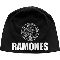 Ramones Beanie Hat: Classic Seal (Discharge Print)