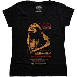 Janis Joplin Ladies Fashion Tee: Madison Square Garden with Soft Hand Inks