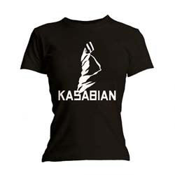 Kasabian Ladies Tee: Ultra Black with Skinny Fitting