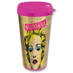 Madonna Travel Mug: Celebration with Plastic Body