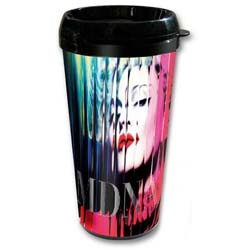 Madonna Travel Mug: MDNA with Plastic Body